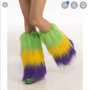 Accessories - Fur leg warmers (Mardi Gras)